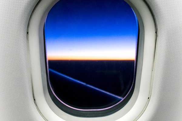 View From The Airplane Window High Quality Transportation Stock