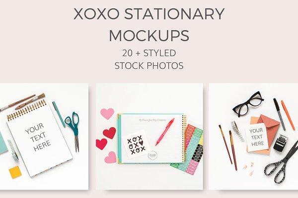 XOXO Stationary Mockups (20+ Images)