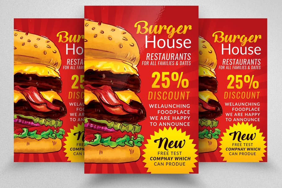 Fast Food Discount Offer Flyer