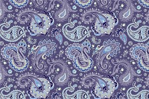 2 Seamless Paisley Patterns
