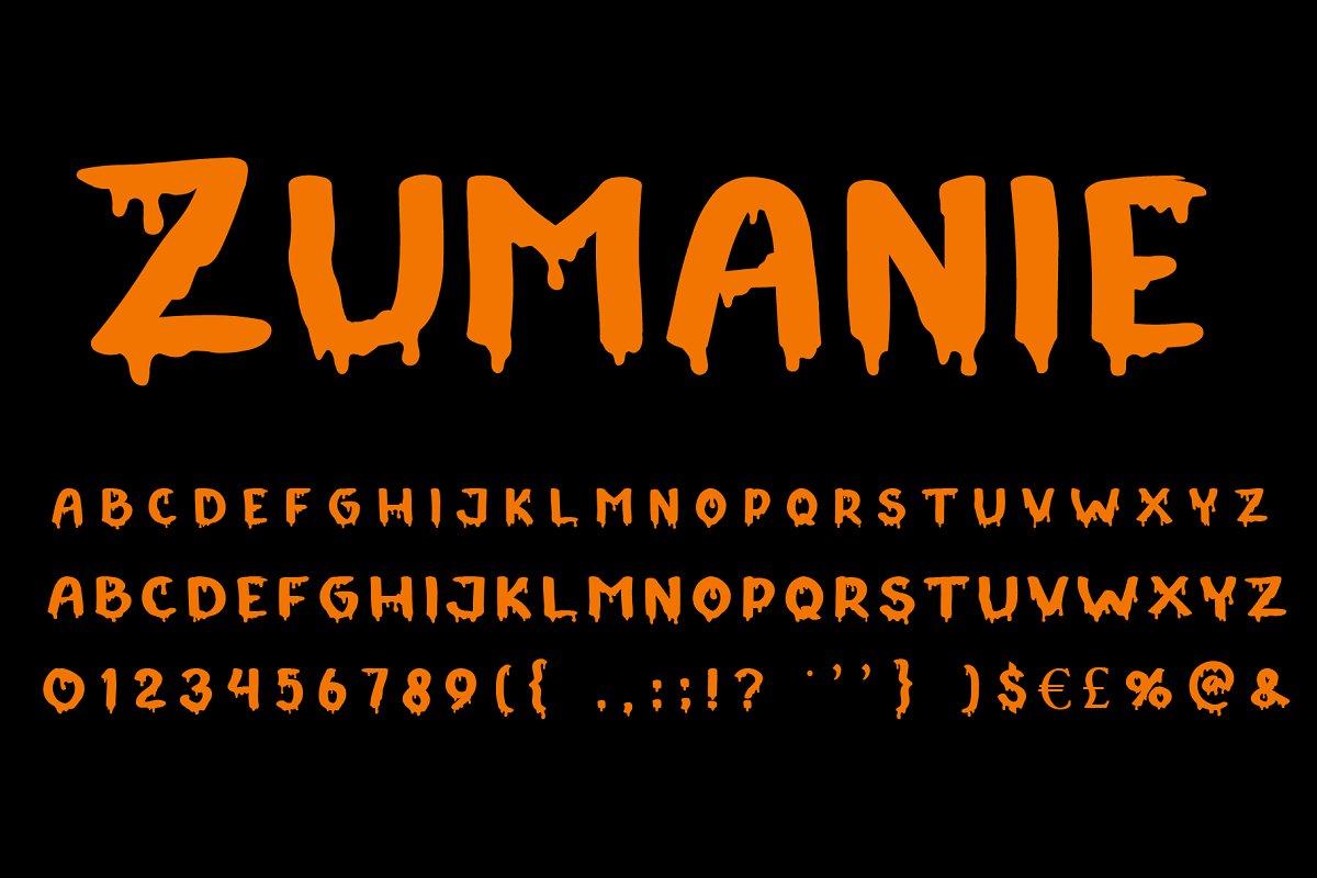 Zumanie Horror Font