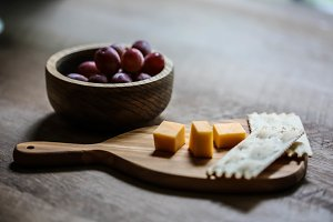 Rustic Cheese with Grapes