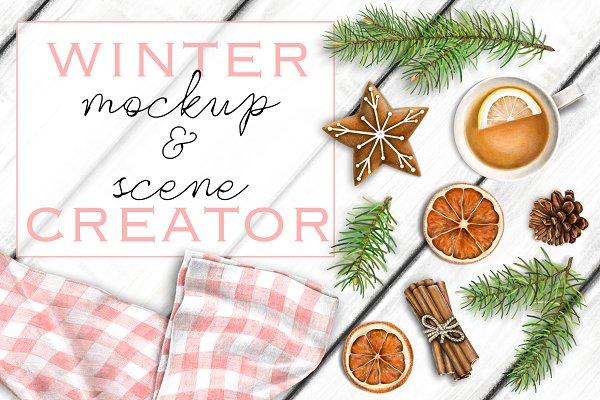 Cozy Winter MockUp & Scene Creator