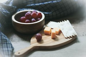 Rustic Farm Table Cheese & Crackers