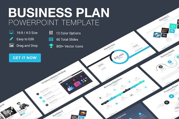 50 stunning presentation templates you wont believe are business plan powerpoint template toneelgroepblik Image collections