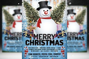 Merry Christmas Flyer Template 2