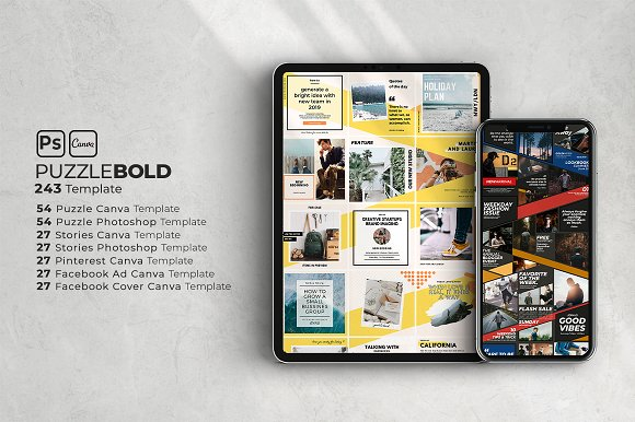 Puzzle Bold Bundle in Instagram Templates - product preview 1
