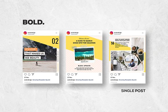 Puzzle Bold Bundle in Instagram Templates - product preview 6
