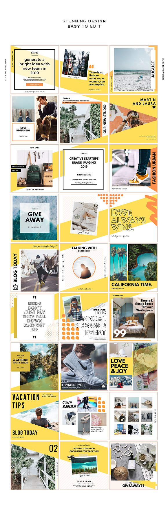 Puzzle Bold Bundle in Instagram Templates - product preview 10