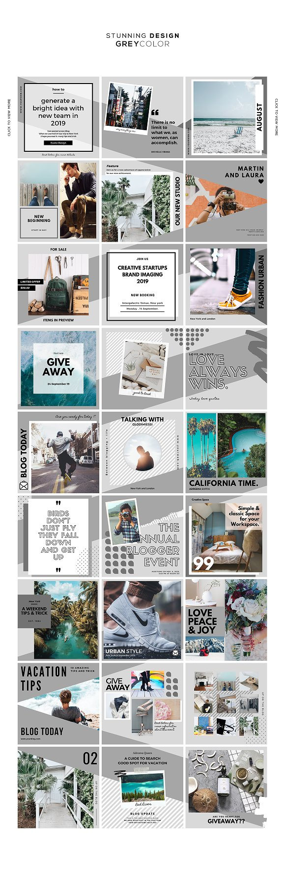 Puzzle Bold Bundle in Instagram Templates - product preview 11