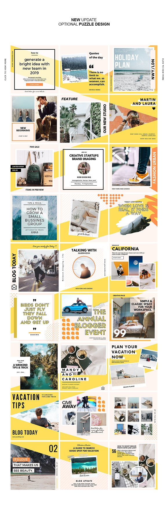 Puzzle Bold Bundle in Instagram Templates - product preview 12