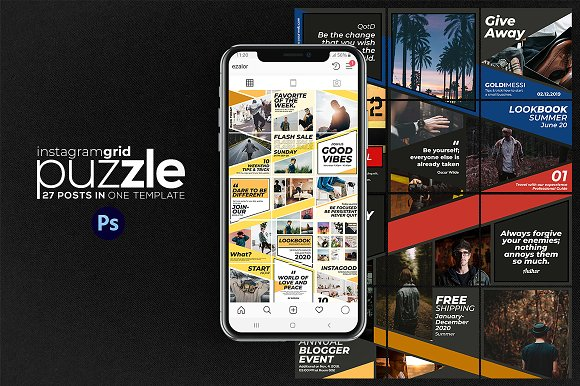 Puzzle Bold Bundle in Instagram Templates - product preview 13