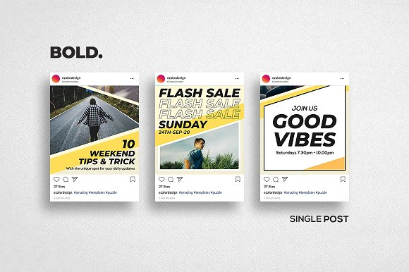 Puzzle Bold Bundle in Instagram Templates - product preview 16