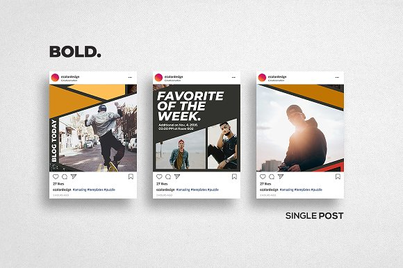 Puzzle Bold Bundle in Instagram Templates - product preview 18