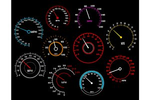 Speedometers set