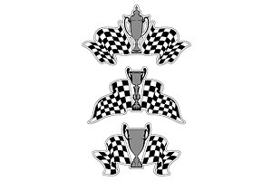 Racing sport emblems