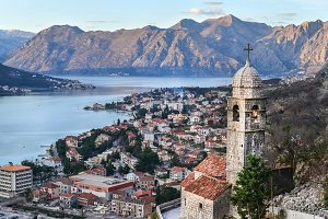 The view over Kotor, Montenegro