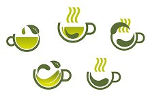 Herbal tea symbols