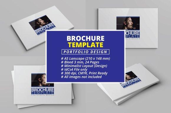 A5 Brochure Template Portfolio Brochure Templates Creative