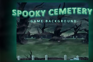 Spooky Cemetery - Game Background