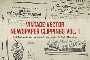Vintage Vector Newspaper Clippings 1