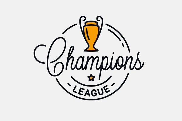 champions league logo pre designed illustrator graphics creative market champions league logo