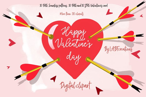 Valentine's day cards & clipart