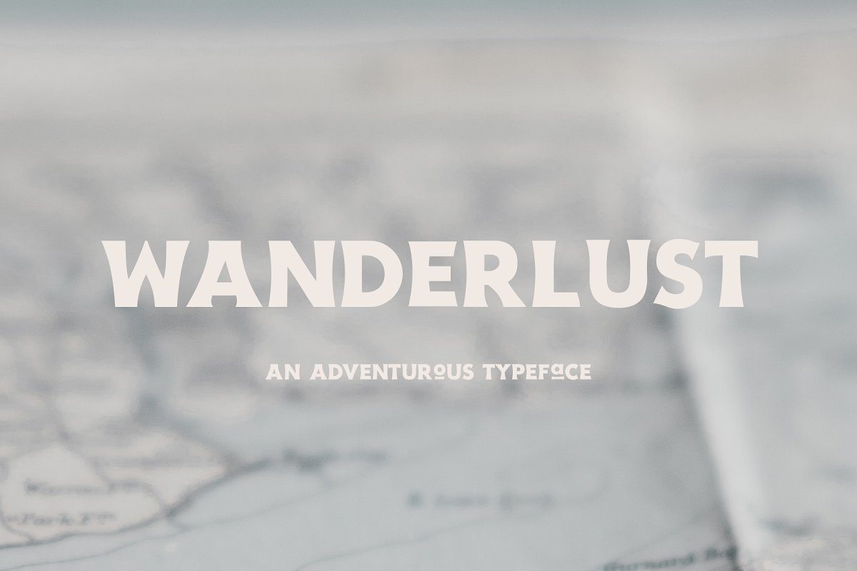 Wanderlust - An Adventurous Typeface