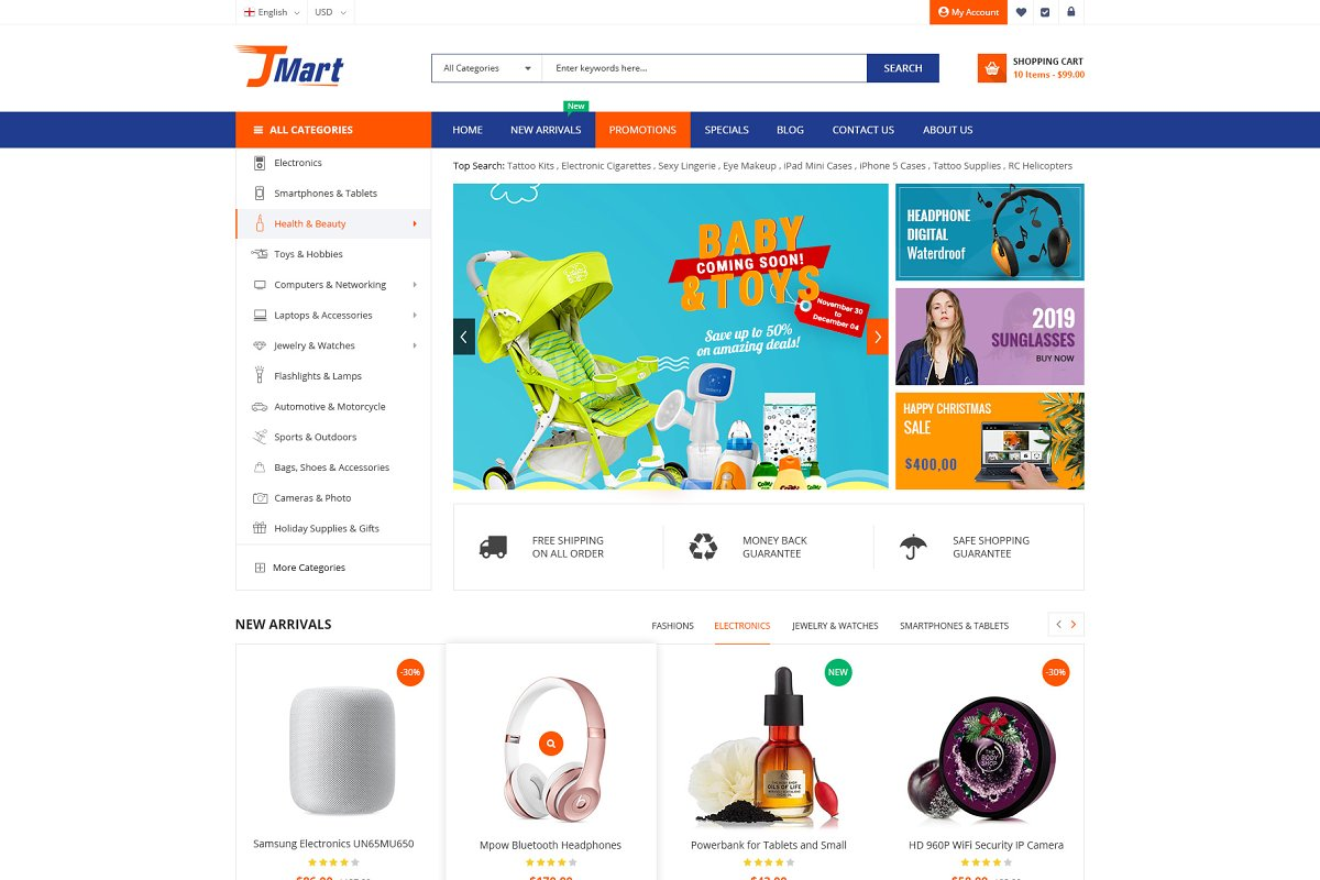 JMart - JoomShopping Template