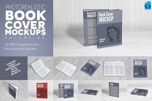 Book Cover Mockups v5 - Hardcover