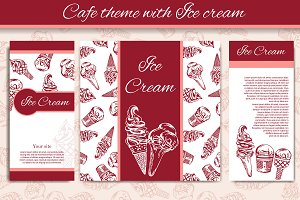Cafe theme with ice cream