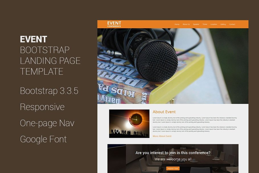 Event - Bootstrap Landing Page