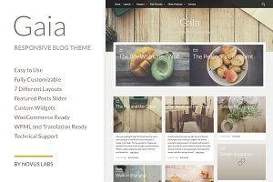 Gaia - WordPress Blog Theme