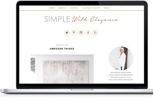 Feminine wordpress template