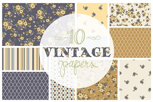 Vintage Floral Papers / Backgrounds