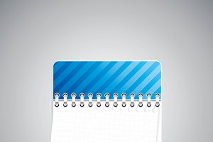 Blue checkered notebook