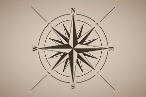 Vector Compass Rose (Wind Rose)
