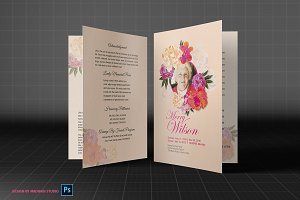 Funeral Program Template - Flower