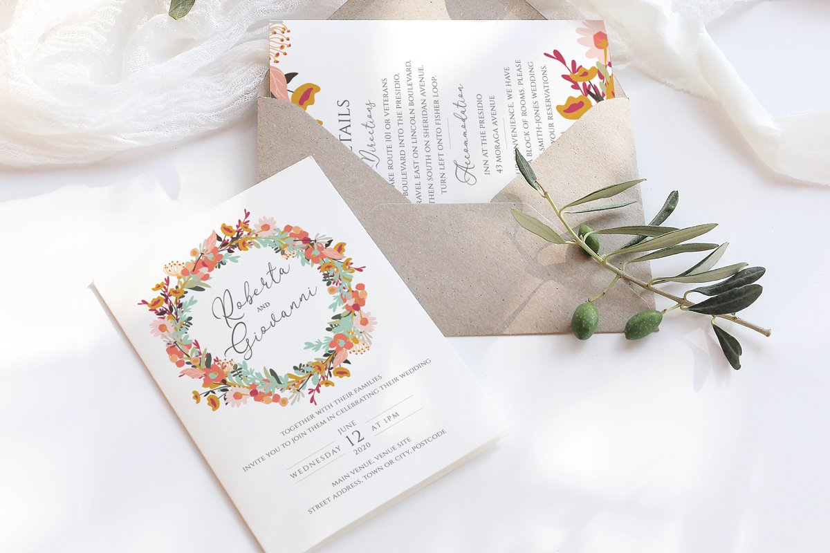 Colourful Wedding Stationery Suite