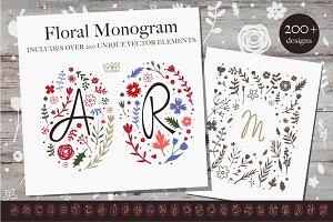 Floral Monograms Megapack
