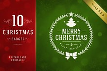 10 Christmas labels and badges