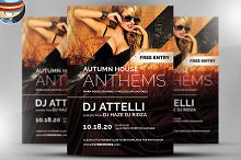 Autumn Anthems Flyer Template
