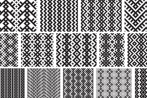 26 vector seamless patterns