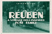 Reuben - A Vintage Display Font