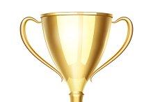 Vector winner trophy cup