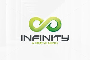 Green Infinity Logo Template