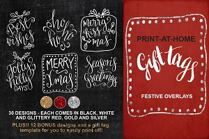 Christmas Gift Tags - Overlays