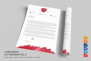 Corporate Letterhead 11 with MS Word