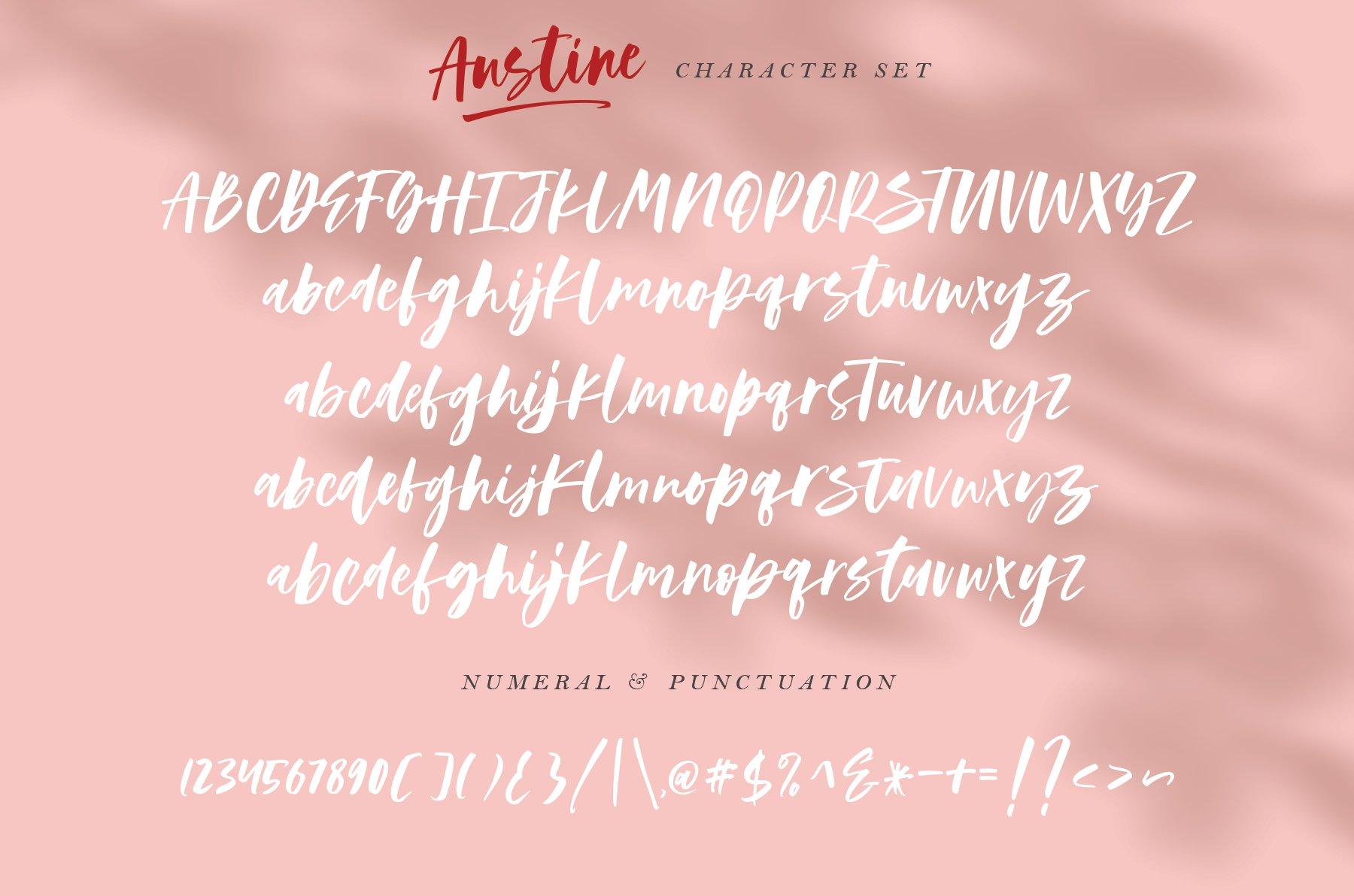 Шрифт – Austine