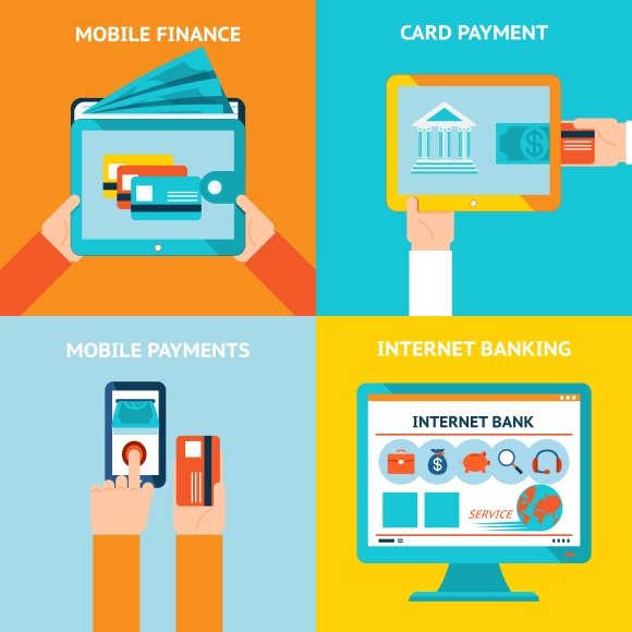 Online and mobile banking ~ Graphics ~ Creative Market